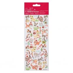 Glitter Stickers - Christmas Cats (PMA 818919)