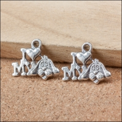 Metal Charms - I Love my Dog (8)