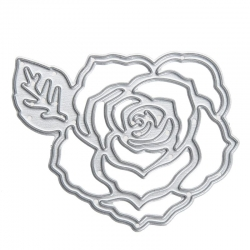 Printable Heaven die - Rose with Leaf (1pc)