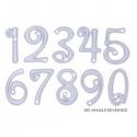 Printable Heaven dies - Curl Numbers (10pcs)