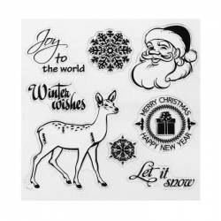 Clear stamp set - Winter Wishes (8pcs)