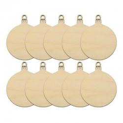 Wooden Baubles (10pcs)