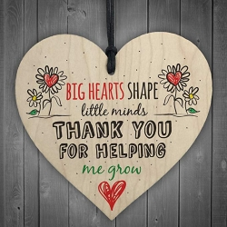 Wooden sign - Big Hearts Shape Little Minds (1pc)