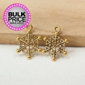 Metal Charms - Snowflakes Antique Gold (12)