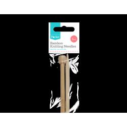 Bamboo Knitting Needles - 6mm (HOM0586)