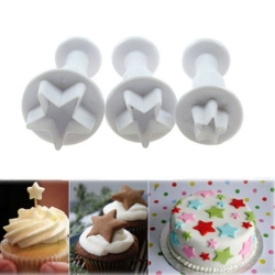 Plunger Cutter set - Stars (3pcs)