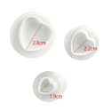 Plunger Cutter set - Mini Hearts (3pcs)