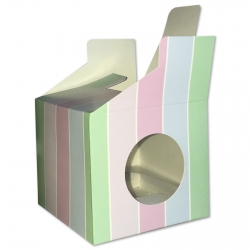 Cupcake Boxes, 6 Pack - Stripes (O-57377)