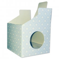 Cupcake Boxes, 6 Pack - Blue Hearts (O-57377)