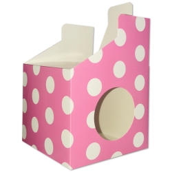 Cupcake Boxes, 6 Pack - Pink Polka (HOM0612)