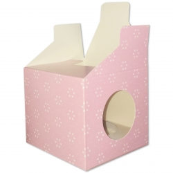 Cupcake Boxes, 6 Pack - Pink Floral (O-57377)