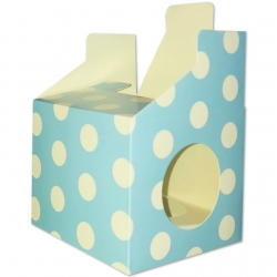Cupcake Boxes, 6 Pack - Blue Polka (HOM0612)