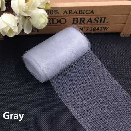 Plain Tulle - Silver/grey (6cm x 5m)