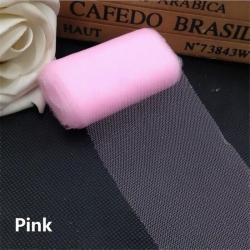 Plain Tulle - Pink (6cm x 5m)