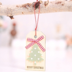 Wooden Tag - Christmas Tree (1pc)