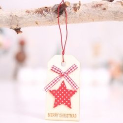Wooden Tag - Star (1pc)