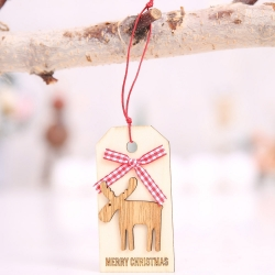Wooden Tag - Reindeer (1pc)