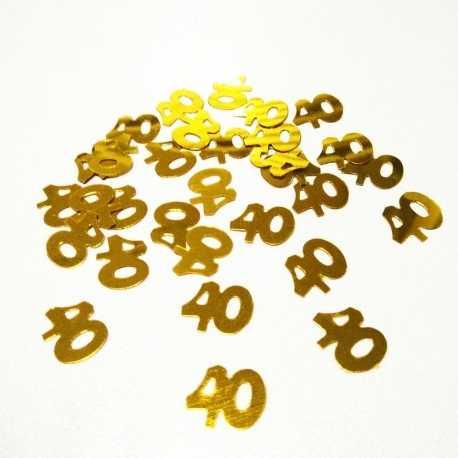 Age Confetti - 40 gold (15g)