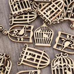 Wooden Birdcages (50pcs)