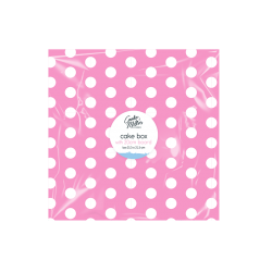 Cake Box & Board Set - Pink Polka (HOM0613)
