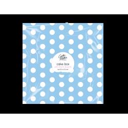 Cake Box & Board Set - Blue Polka (HOM0613)