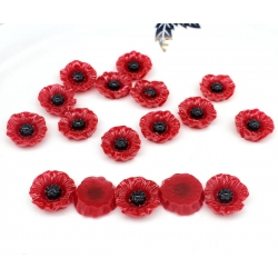 Resin Poppy-heads (6pcs)