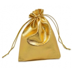 Drawstring Jewellery/Favour Bags - Large Gold (3pcs)