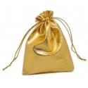 Drawstring Jewellery/Favour Bags - Large Gold (3pcs)