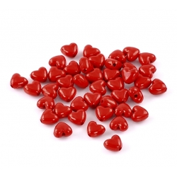 Red Heart Beads (50pcs)