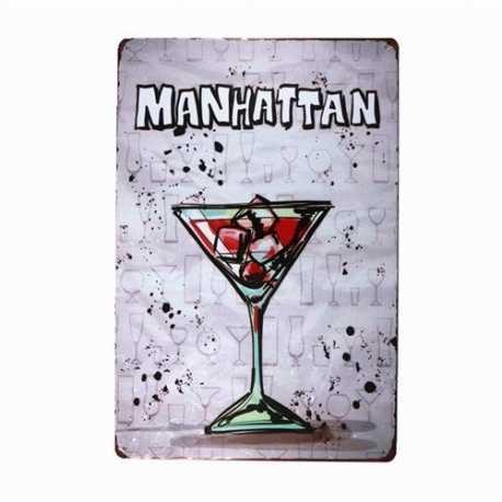 Metal Sign - Manhattan
