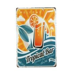 Metal Sign - Tropical Bar