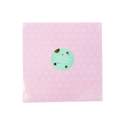 Cake Box & Board Set - Pink Floral (O-57477)