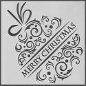 13 x 13cm Reusable Stencil - Merry Christmas Bauble (1pc)