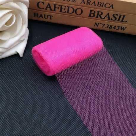 Plain Tulle - Bright Pink (6cm x 5m)