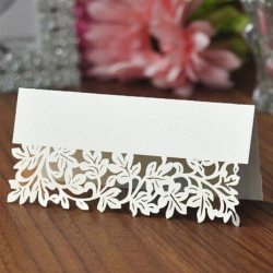 Place-cards - Filigree Leaf-edge (10pcs)