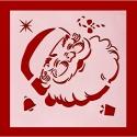 13 x 13cm Reusable Stencil - Santa Face (1pc)