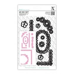 A5 Die Set (10pcs) - Naive Floral Borders (XCU 503245)