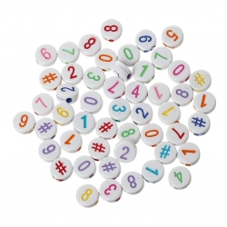 Number Beads - Multi (150pcs)