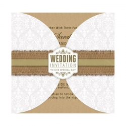 "6 x 6"" Card Wraps (25pk) - Wedding Damask (PMA 158120)"