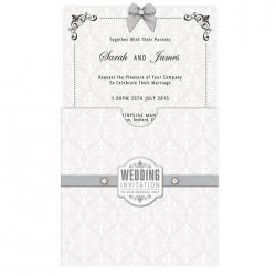 "6 x 6"" Sleeved Postcards & Envelopes (25pk) - Wedding , Damask (PMA 158104)"