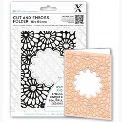 Cut & Emboss Folder - Hearts & Flowers (XCU 503820)