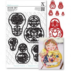 A5 Die Set (5pcs) - Russian Dolls (XCU 503235)