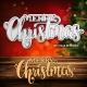Printable Heaven die - Large Merry Christmas (1pc)