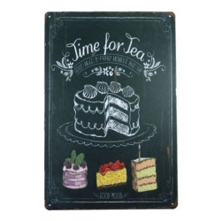 Metal Sign - Time for Tea