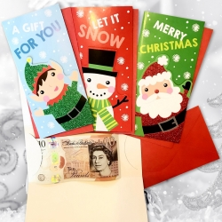 Christmas Money Wallets - 4 Pack (XMA1734)