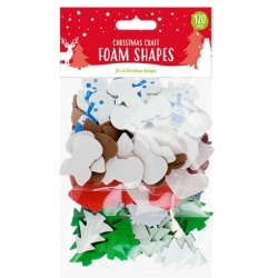 Christmas Craft Foam Shapes 120 Pack (XMA1789)
