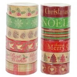 Dovecraft Christmas Washi Tape (12 ROLLS) (DCWTB033X18)
