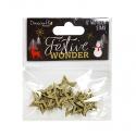 Festive Wonder Glittered Wooden Stars (DCTOP100X18)