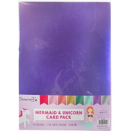 Dovecraft A4 Mermaid & Unicorn card pack (DCBS205)
