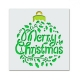 Reusable Stencil - Merry Christmas Holly Bauble (1pc)